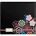 Colorbok 'Black Floral' Album With Label Holder
