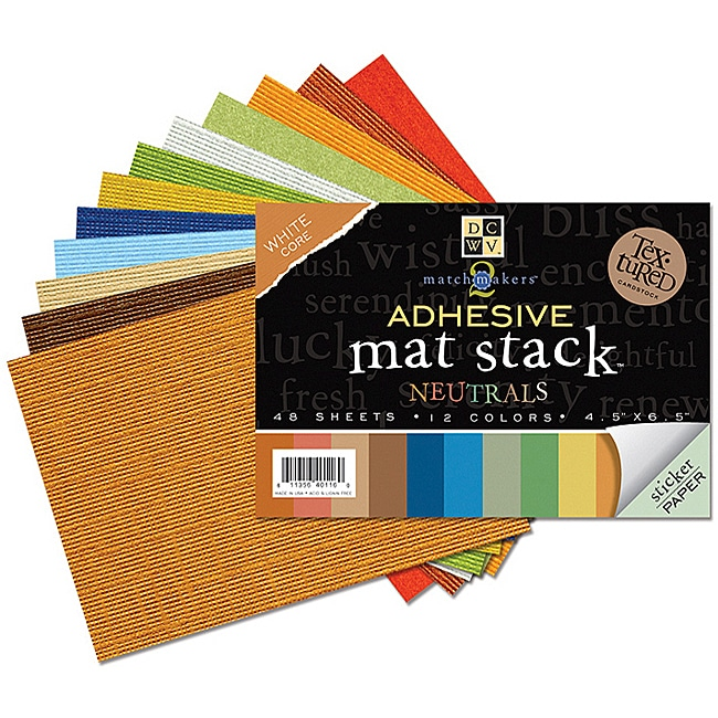 Match Makers Neutrals Adhesive Mat Stack