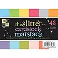 Glitter Cardstock Matstack Paper (Pack of 48)