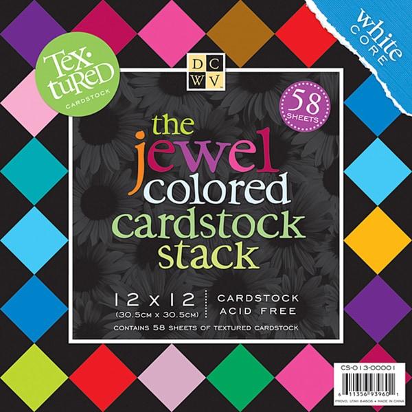 Textured Jewels 12x12 Cardstock Stack