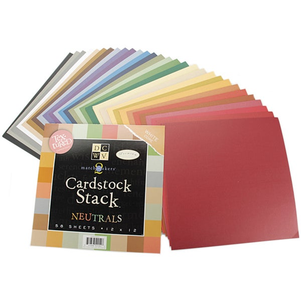 Match Makers Neutrals Cardstock Stack