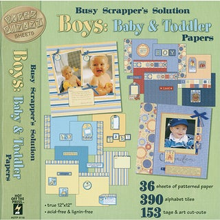 Hot Off The Press Boys: Baby/ Toddler Paper and Accent Kit