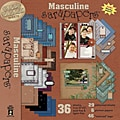 Hot Off The Press Masculine Sarapapers Scrapbooking Kit
