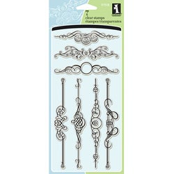 Inkadinkado Ornate Flourish Clear Stamps