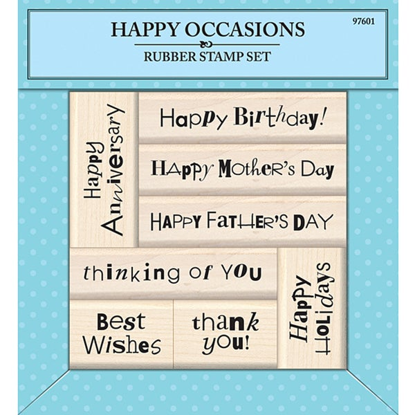 Inkadinkado Happy Occasions Rubber Stamp Set