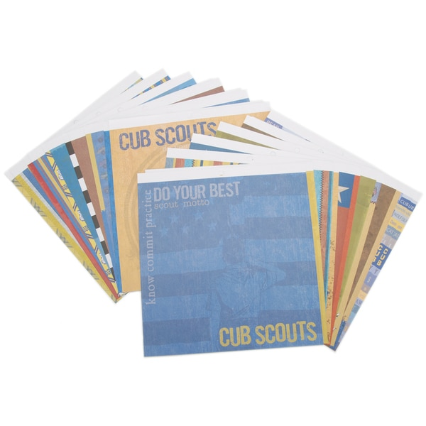 Boy Scouts Of America Cub Scouts Two-sided 12x12 Paper Pad