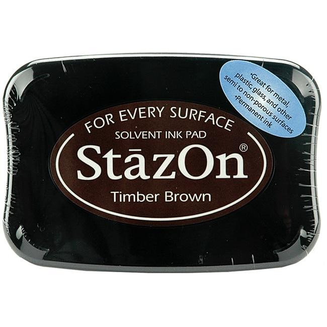 StazOn Timber Brown Inkpad