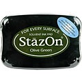StazOn Olive Green Inkpad