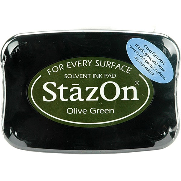 StazOn Olive Green Inkpad