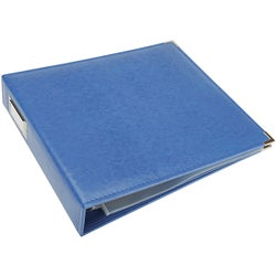Country Blue Faux Leather 3-ring Scrapbook Album