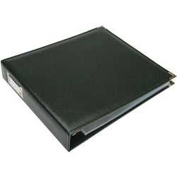 Forest Green Faux Leather 3-ring Scrapbook Album
