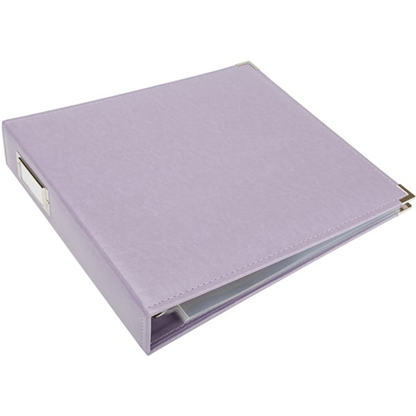 Lilac Faux Leather 3-ring Scrapbook Album