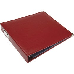 Wine Faux Leather 3-ring 12x12 Scrapbook Album