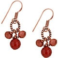 Charming Life Copper Carnelian and Goldstone Drop Earrings