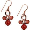 Charming Life Copper Carnelian and Goldstone Drop Earrings