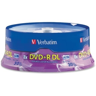 Verbatim 96542 DVD Recordable Media - DVD+R DL - 8x - 8.50 GB - 30 Pa