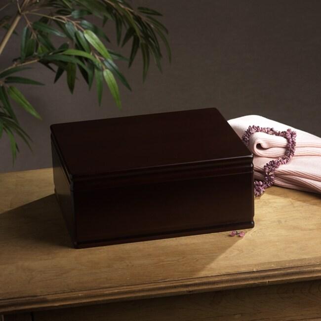 Walnut Jewelry Box with Removable Tray