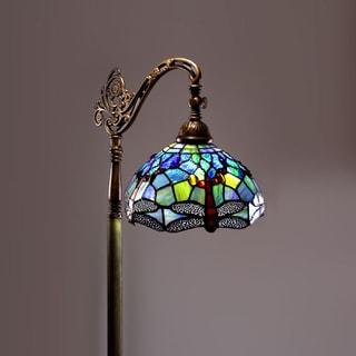 Tiffany-style Dragonfly Reading Lamp