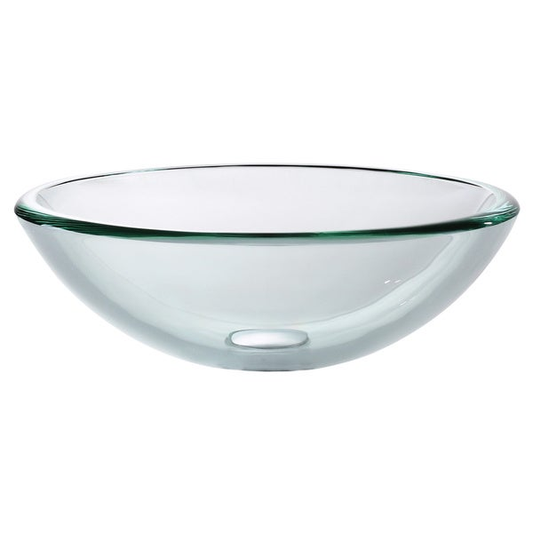 Kraus Clear 19mm thick Glass Vessel Sink