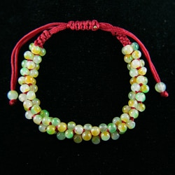 Multi-colored Jade Beads Bracelets (China)