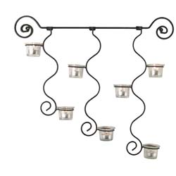 Curly Candle Holder Wall Sconce