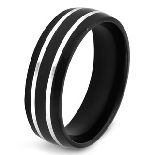 Crucible Black-plated Stainless Steel Lined Ring