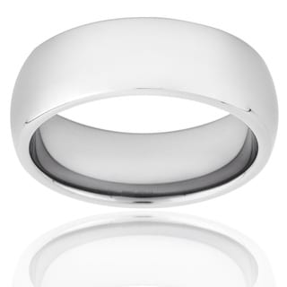 Men's Tungsten Domed Polished Band (8 mm)