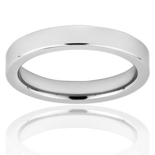 Men's Tungsten Pipe-cut Polished Band (4 mm)