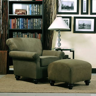 Portfolio Capri Moss Green Microfiber Arm Chair And