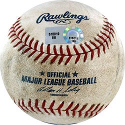 MLB Dodgers at Giants Game-used Baseball 8/02/2007