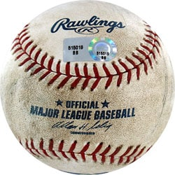 Braves at Dodgers Game-used Baseball 7/2/2007
