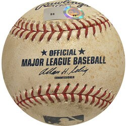 MLB Padres at Dodgers Game-used Baseball 4/11/2008