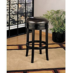 "30 "" Dark Brown Bicast Leather Swivel Barstool"