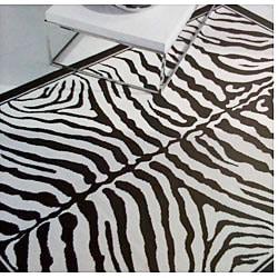 nuLOOM Omega Collection Zebra Animal Black Rug (5'3 x 7'6)
