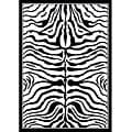 nuLOOM Omega Collection Zebra Animal Black Rug (5'3 x 7'6)