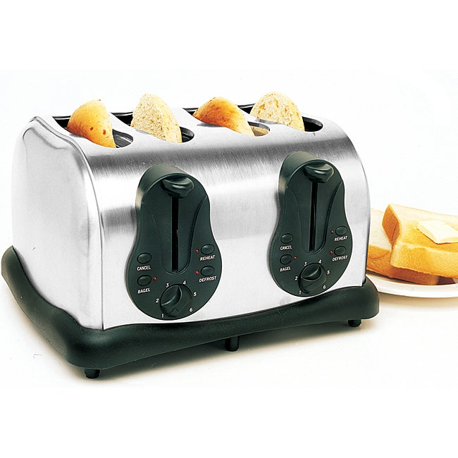Stainless Steel 4-slice Electric Toaster