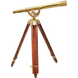 Brass 18 x 50 Pirate Scope with Mahogany Tripod