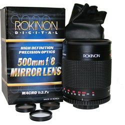 Rokinon 500 mm f/8 Mirror Lens for Sony Alpha DSLR