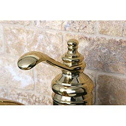 Templeton Polished Brass Centerset Bathroom Faucet