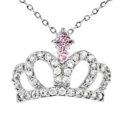 Tressa Sterling Silver Cubic Zirconia Crown Necklace