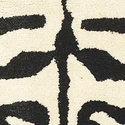 Safavieh Handmade Soho Zebra Ivory/ Black New Zealand Wool Rug (2' x 3')