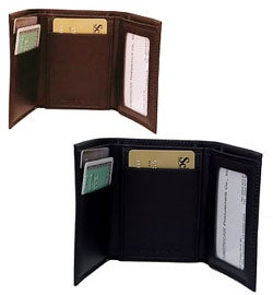 Amerileather Men's Leather Tri-fold Wallet