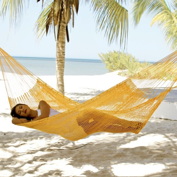 Hand-woven 'Orange Sonata' Hammock , Handmade in Mexico