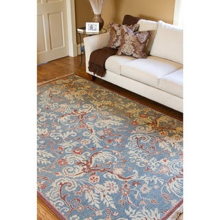 Hand-Knotted Legacy Collection Floral Wool Rug (8' x 10')