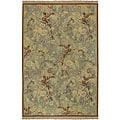 Hand-knotted Legacy Collection Blue Wool Rug (9' x 12')