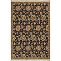 Hand-knotted Legacy Collection Floral Wool Rug (9' x 12')
