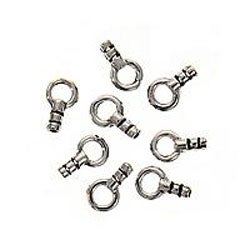 Beadaholique Sterling Silver Beading Chain End Crimp Cap (Set of 4)