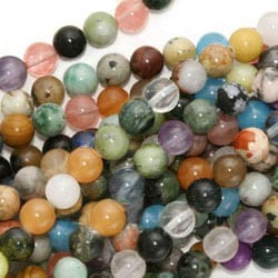 Beadaholique Gemstone Bead Mix 6mm Round Beads (15.5-inch Strand)