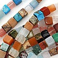 Beadaholique Gemstone Bead Mix 6 x 6mm Cube Beads /16 Inch Strand
