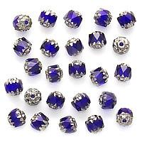 Beadaholique Czech Glass 6-mm Cobalt Blue Cathedral Beads (Case of 25)